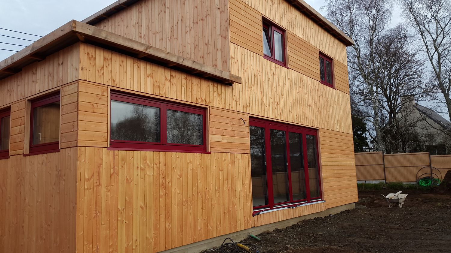 Maison passive pr s de morlaix en finist re bretagne for Autoconstruction maison passive