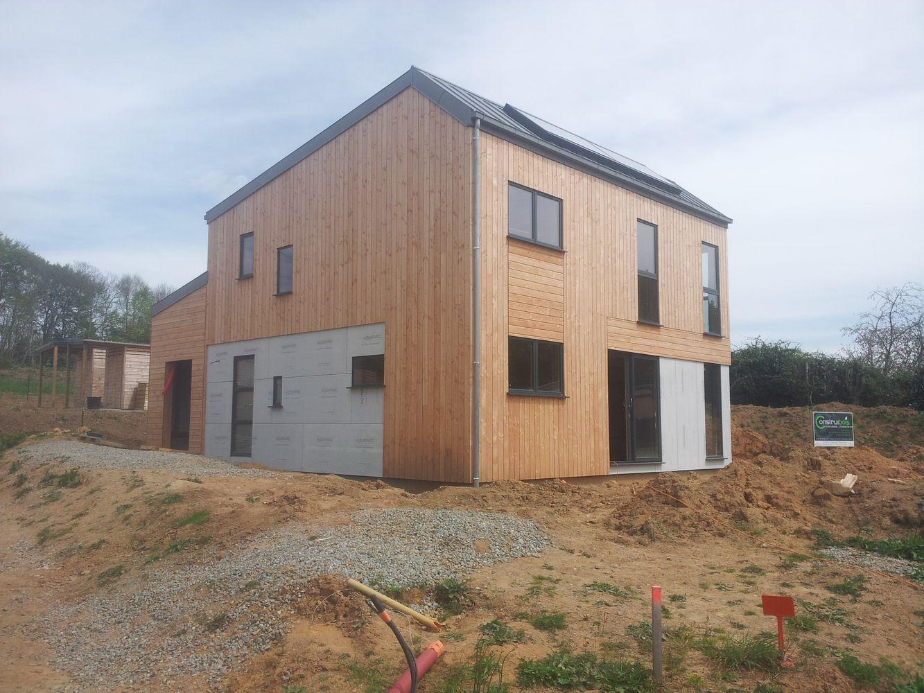 Constructeur maison ossature bois quimper - Interieur maison ossature bois ...