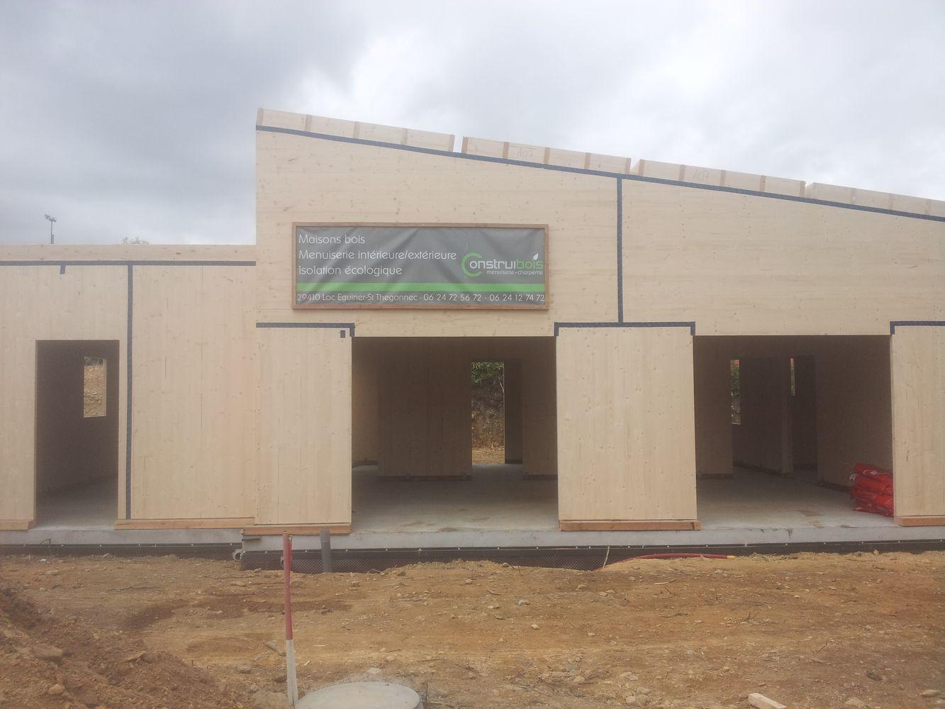 Maison Panneau Bois Structure Mixte Panneaux Plis Croiss Clt Et Panneaux Ossature Bois Porteurs  # Maison Panneau Bois
