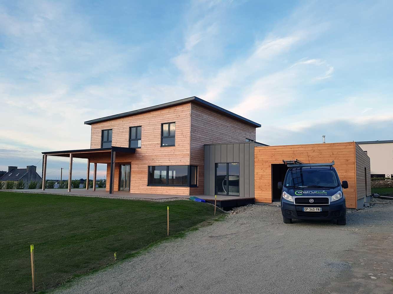 Constructeur maison panneau massif morlaix i construibois for Maison bois massif