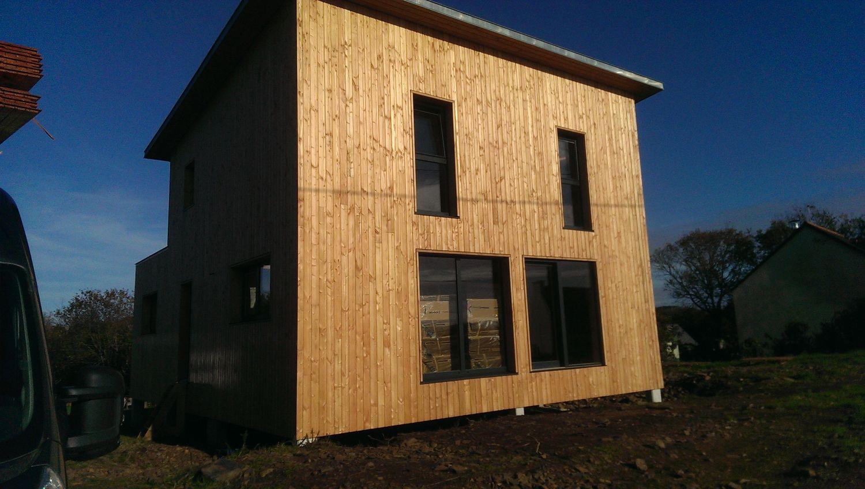Maison ossature bois hopital camfrout pr s de morlaix for Maison cubique ossature bois
