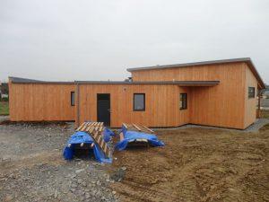 Maison ossature bois à Lampaul Guimiliau