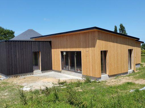 Maison ossature bois à Locquénolé