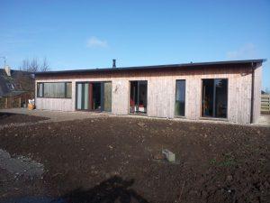 Maison ossature bois à Portshall
