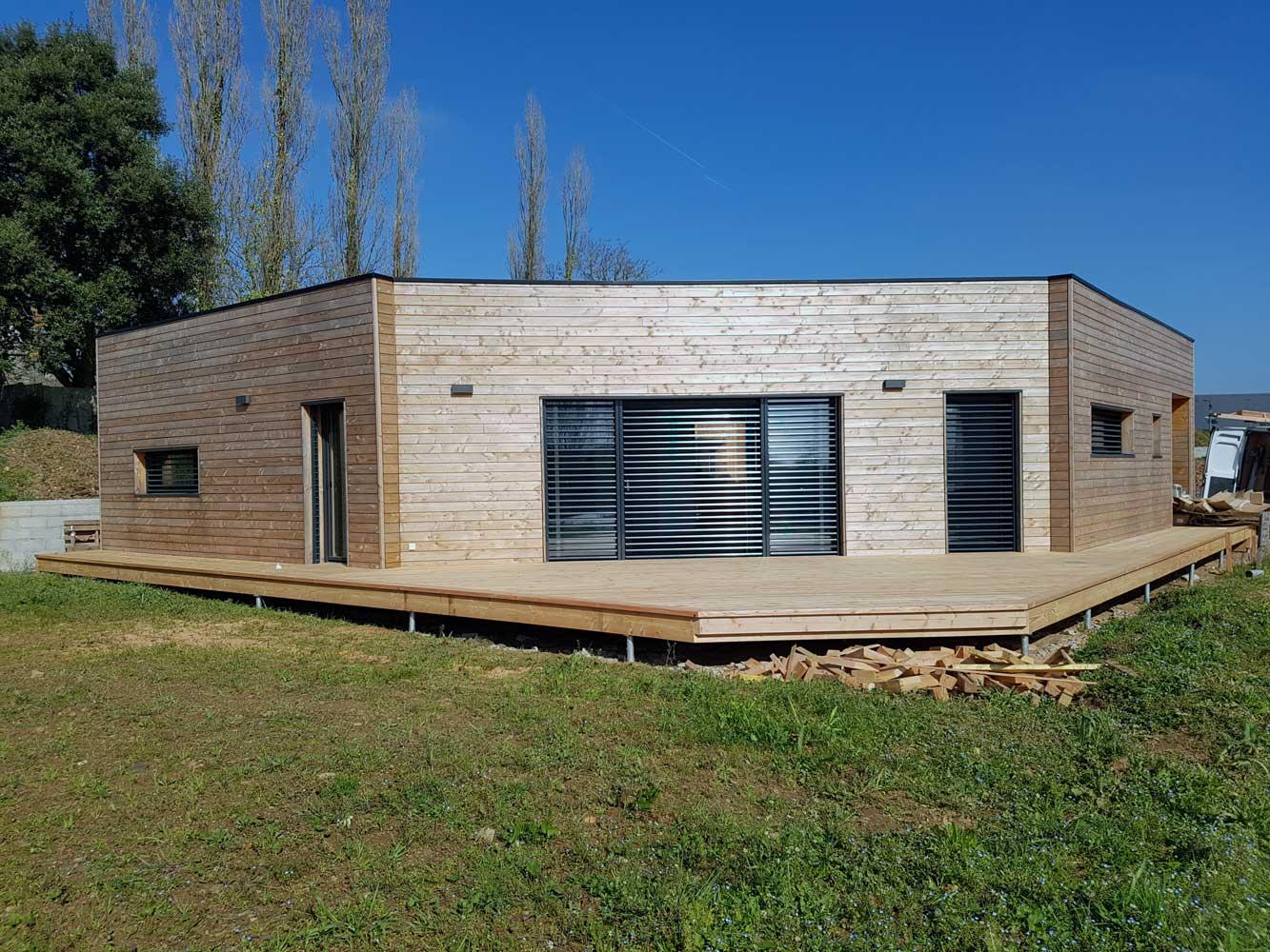 Construction maison passive en ossature bois a loperhet i for Maison passive ossature bois prix