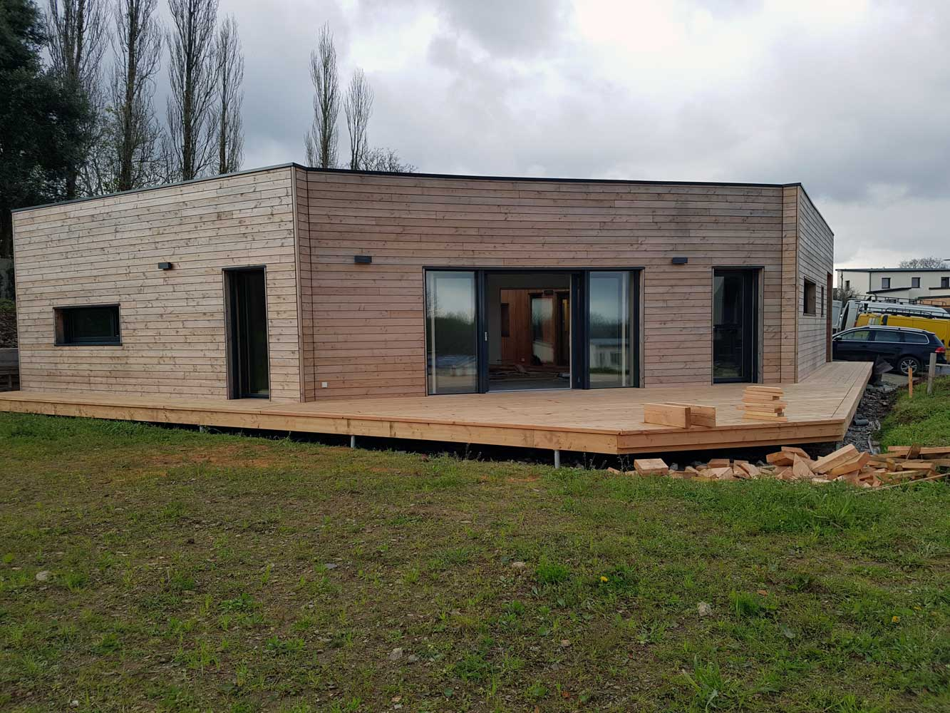construction maison passive en ossature bois a loperhet i construibois. Black Bedroom Furniture Sets. Home Design Ideas